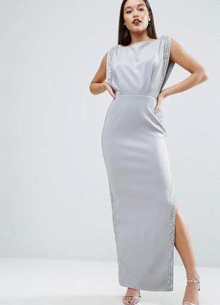 Новорічний розпродаж ! платье с декоративной отделкой asos