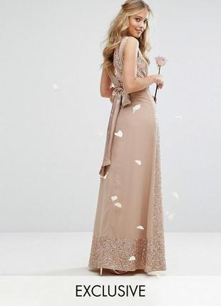 Ліквідація товару до 29 грудня 2018 !!! декорированное платье с бантом сзади maya