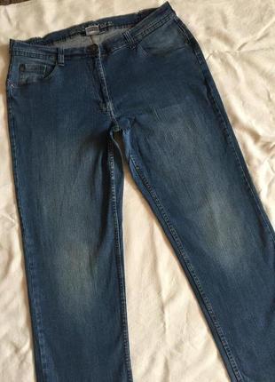 Отличные джинсы жен стреч прямые 5xl(56)1