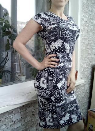 Платье миди в стиле marvel