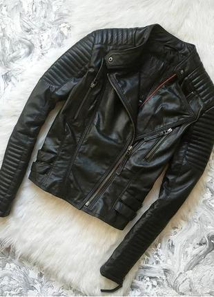 Куртка косуха кожанка из натуральной кожи натуральная кожа от cigno nero