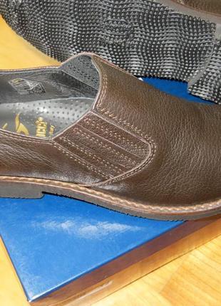 Кожаные мокасины без шнурков gallucci, 34 р, полномер