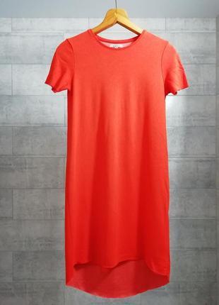 Яркое оранжевое платье от zara