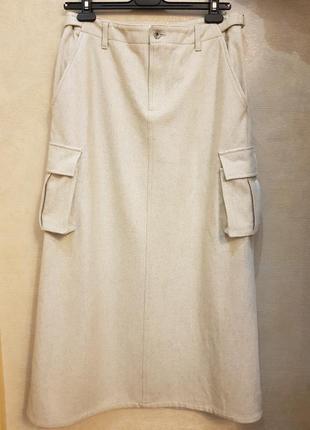 Шикарная брендовая длинная юбка dkny (донна каран), оригинал