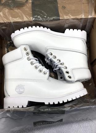 Зимние белые ботинки timberland original