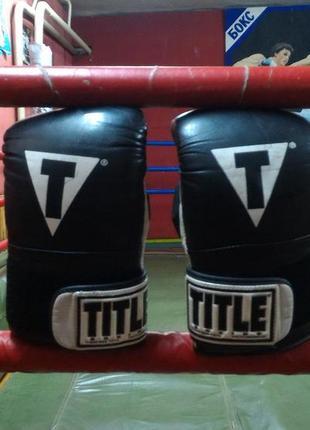 Снарядные боксерские  перчатки title pro heavy bag gloves