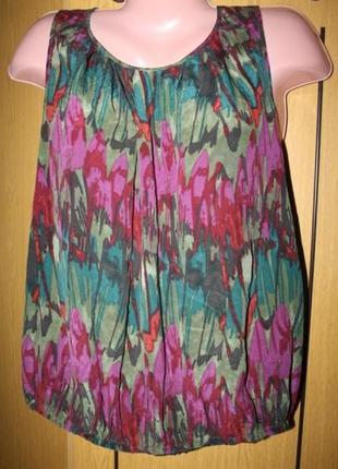 Комбинированная блуза, перед-100% шелк, ид. сост.