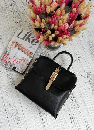 Новая черная сумка с биркой