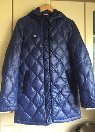 Шикарное пальто пуховик le coq sportif