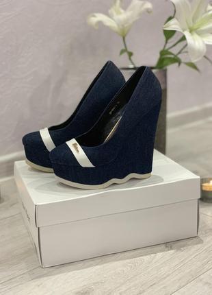 Джинсовые туфли stella marco