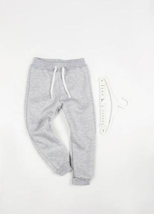 Теплые спортивные штаны с начесом 80-152см