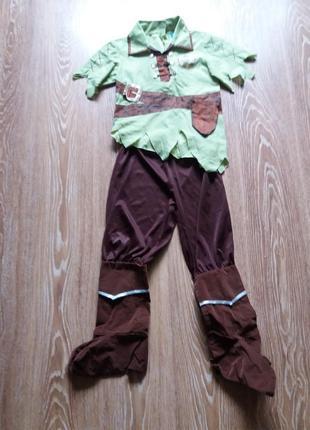 Карнавальный костюм питэра пэна.на 5-6 лет