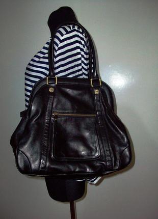 Кожаная фирменная женская сумка  от borella (сост новой)