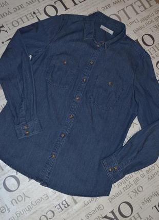 Джинсовая рубашка promod