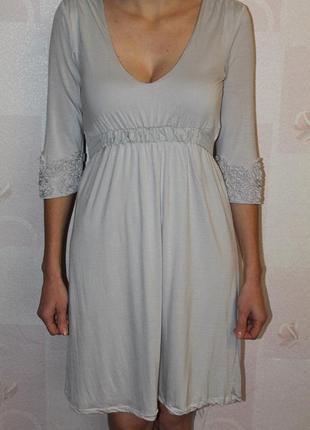 Комфортное платье из модала и шелка noa noa миди