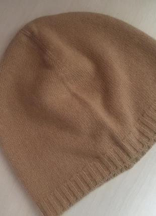 Шерстяная шапочка цвет camel