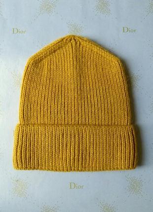 Must have🔥 трендовая теплая шапка бини с отворотом
