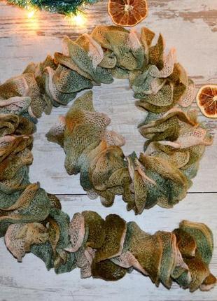Снуд, ажурный шарф, шарфик
