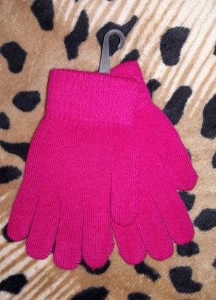 Теплые неоновые перчатки 35% шерсти +баечка внутри