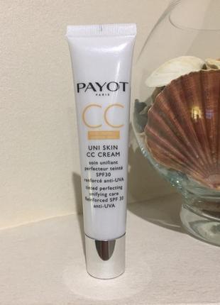 Payot uni skin cc cream выравнивающее тонирующее средство