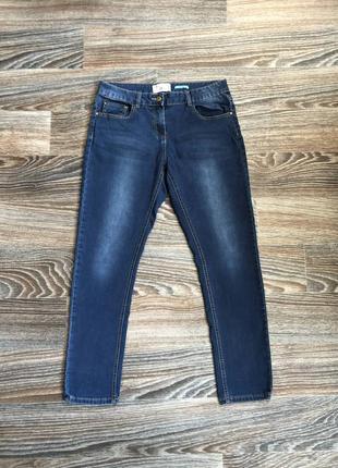 Синие хлопковые с трикотажем стрейчевые джинсы брюки штаны скинны от matalan denim