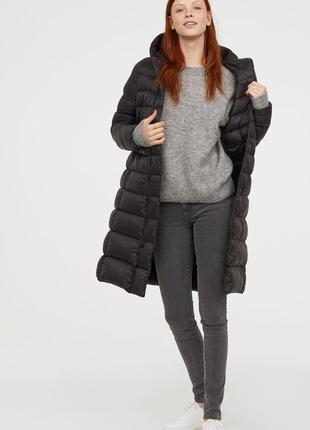 H&m blogger пуховик пальто куртка плащ  новое  с этикеткой черный  m-l
