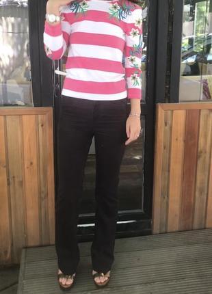 Вельветовые брюки h&m высокая посадка