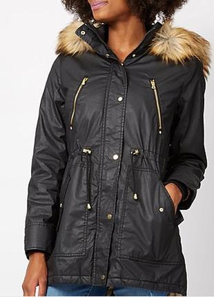 Стильная модная куртка парка george водоотталкивающая размер 10-12