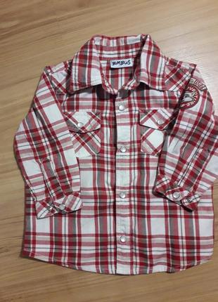 Рубашечка на маленького модника 9-12 месяцев