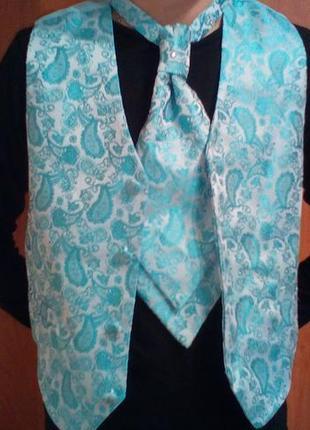 Модная жилетка и галстук на 6-8 лет