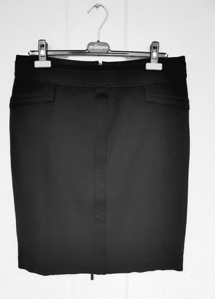 Шикарная юбка трикотажная базовая офисная