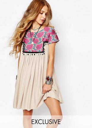Новорічний розпродаж ! платье с вышивкой reclaimed vintage