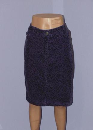 Принтовая вельветовая юбка 14 размера m&co