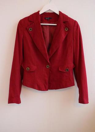Шикарный пиджак, в составе лен
