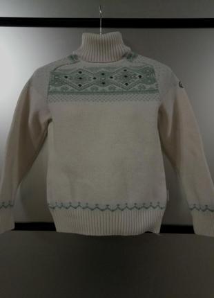 Теплый шерстяной свитерок с орнаментом