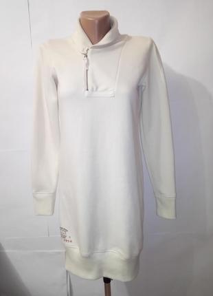 Белый удлиненный джемпер кофта ralph lauren uk 12-14 / 40-42 / l