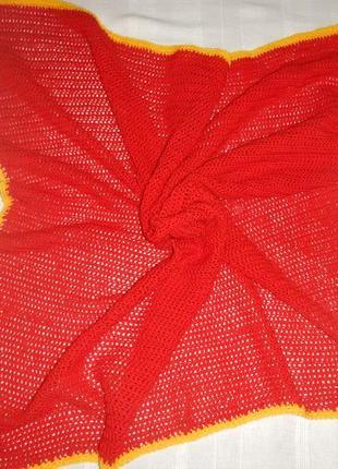 Детское одеяло покрывало плед ручной работы р.95cм х 100см