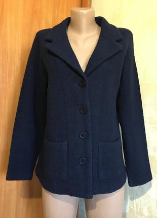 Шерстяной трикотажный жакет,пиджак,100%меринос