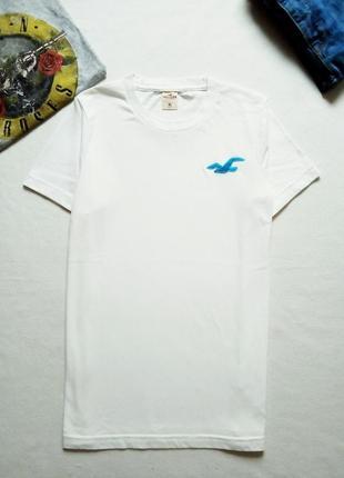Белая футболка hollister