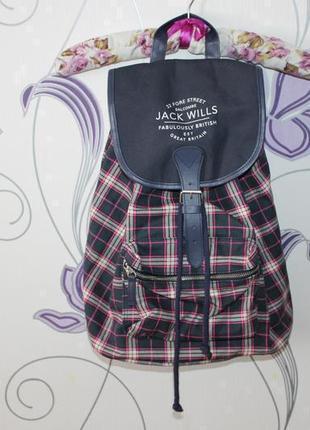 Фирменный рюкзак в клетку jack wills