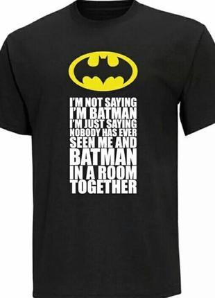 Черная бесшовная футболка batman