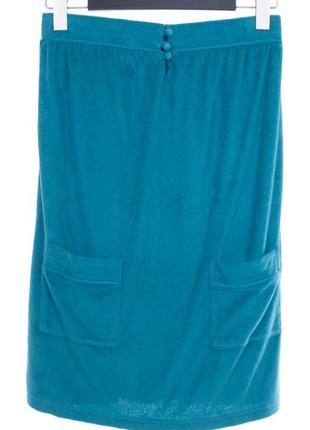 Голубая махровая юбка с карманами princesse tam tam
