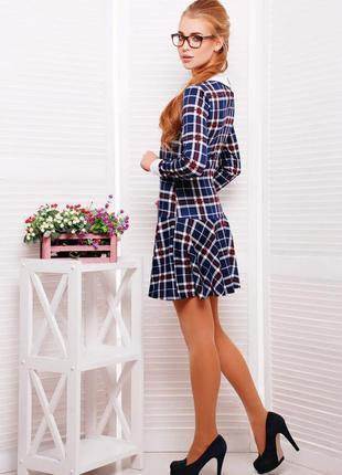 Шерстяное платье в клетку с люрексом от итальянского бренда two