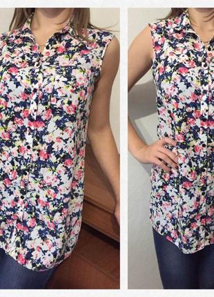 Превосходная💕 красивая💕 стильная💕 блуза/рубашка без рукавов