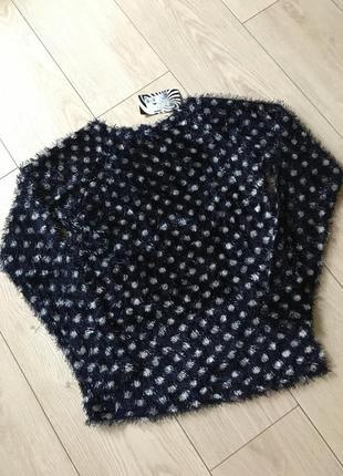 Свитер горошек пуловер травка размеры