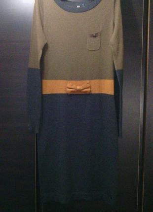 """Красивое нежное платье""""dept"""" в серо\ коричневых тонах разм 40-42"""