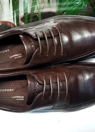 """Дорогие кожаные туфли """"rockport"""" с техн. adiprene by adidas, сша! 44 р."""