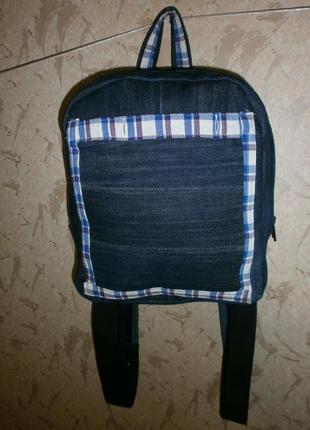 Небольшой рюкзачок из денима