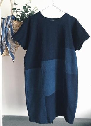 Платье деним синий в принт от cos