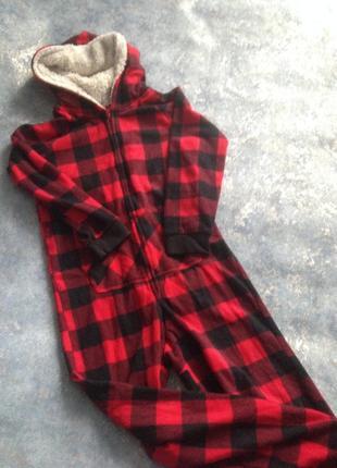 Флисовый человечек кигуруми слип костюм пижама комбинезон от george 8-9лет